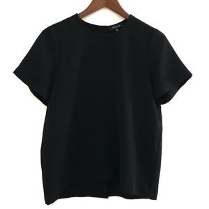 MADEWELL Button-Back top in Black